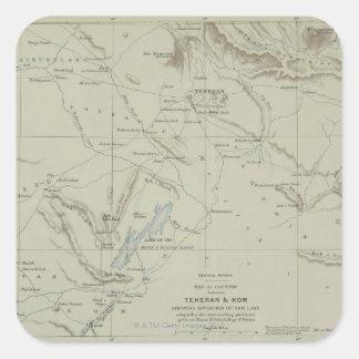 Antique Map of Iran Square Sticker