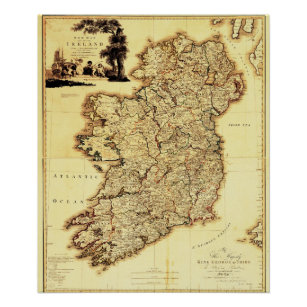 Map Of Ireland Poster.Maps Of Ireland Posters Photo Prints Zazzle