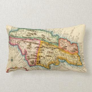 Antique Map of Jamaica 1758 Lumbar Pillow