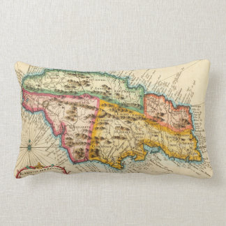 Antique Map of Jamaica 1758 Pillow