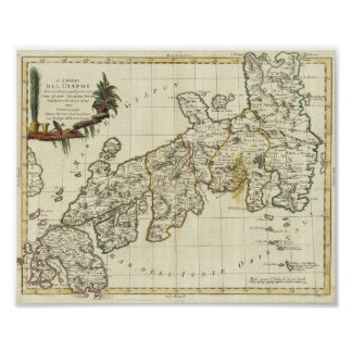 Ancient Japan Posters Zazzle - Japan map poster
