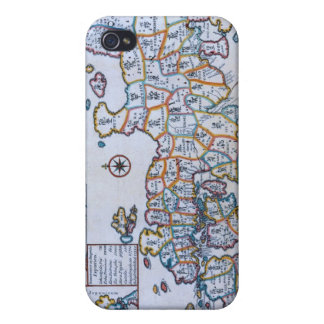 Antique Map of Japan Case For iPhone 4