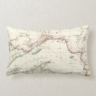 Antique map of Lake Superior Lumbar Pillow