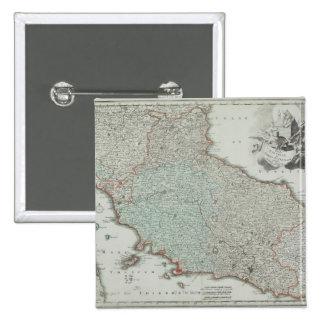 Antique Map of Lazio, Italy Button