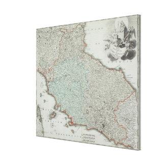 Antique Map of Lazio, Italy Canvas Print