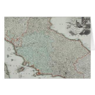 Antique Map of Lazio, Italy Card