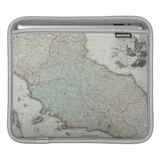 Antique Map of Lazio, Italy Sleeve For iPads