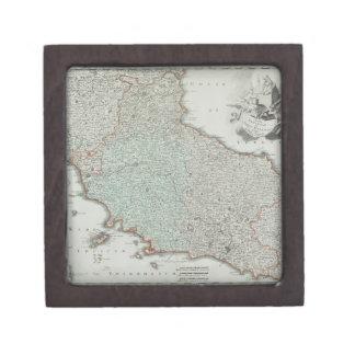 Antique Map of Lazio, Italy Jewelry Box