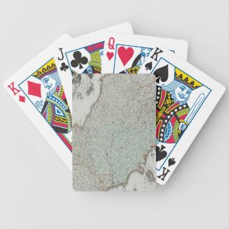 Antique Map of Lazio, Italy Poker Cards