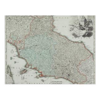 Antique Map of Lazio, Italy Postcard