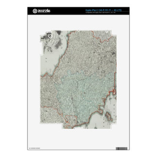 Antique Map of Lazio, Italy Decal For iPad 3