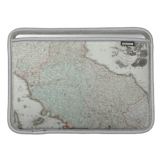Antique Map of Lazio, Italy Sleeve For MacBook Air