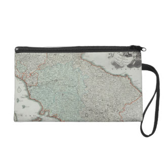 Antique Map of Lazio, Italy Wristlet
