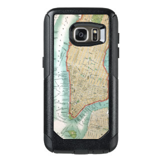 Antique Map of Lower Manhattan and Central Park OtterBox Samsung Galaxy S7 Case
