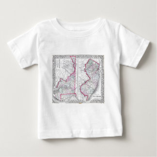 Antique Map of Maryland, New Jersey, & Delaware Baby T-Shirt