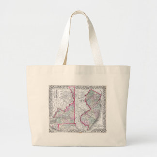 Antique Map of Maryland, New Jersey, & Delaware Canvas Bag