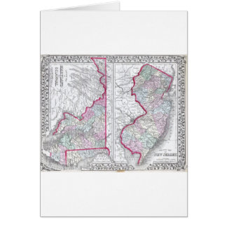 Antique Map of Maryland, New Jersey, & Delaware Cards