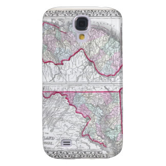 Antique Map of Maryland, New Jersey, & Delaware Galaxy S4 Cover