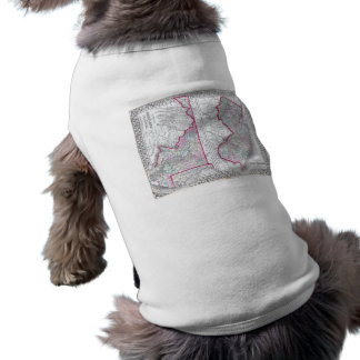 Antique Map of Maryland, New Jersey, & Delaware Pet T-shirt