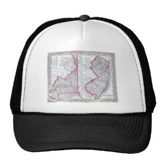 Antique Map of Maryland, New Jersey, & Delaware Trucker Hat