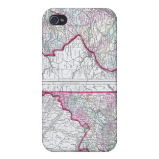 Antique Map of Maryland, New Jersey, & Delaware iPhone 4/4S Case