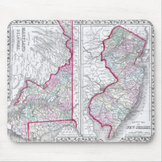 Antique Map of Maryland, New Jersey, & Delaware Mousepad