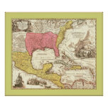 Antique Map of North America ~ 1759 Poster