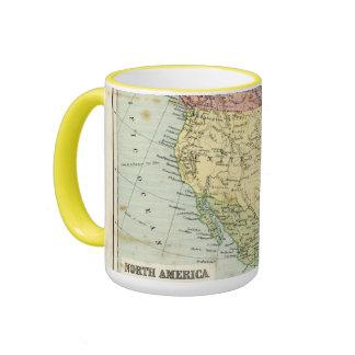 Antique map of North America Ringer Mug