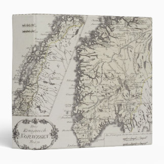 Antique Map of Norway 3 Ring Binder