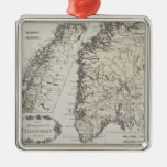 Antique Map of Norway Christmas Ornament