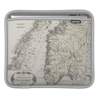 Antique Map of Norway iPad Sleeves