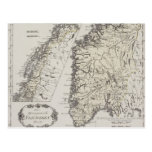 Antique Map of Norway Post Cards