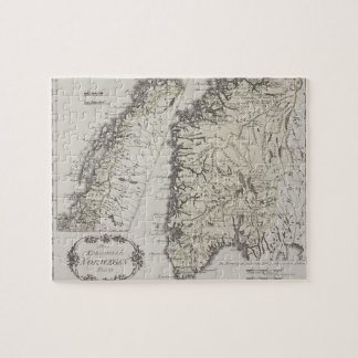 Antique Map of Norway Jigsaw Puzzle