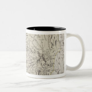 Antique Map of Norway Two-Tone Coffee Mug