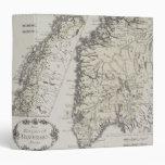 Antique Map of Norway Vinyl Binders