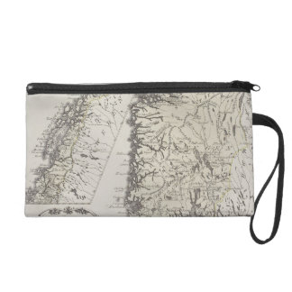 Antique Map of Norway Wristlet Purse