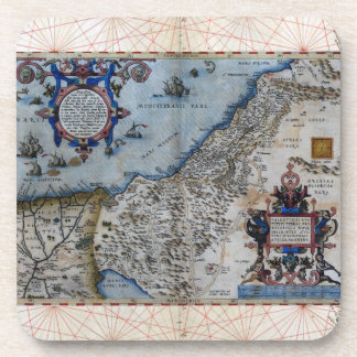 Antique Map of Palestine Coaster