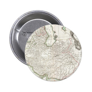 Antique Map of Persia- Iran, Afghanistan, & Iraq Pinback Button