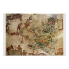 ANTIQUE MAP OF POLAND POSTER