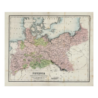 Antique Map of Prussia Poster