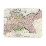 Antique Map of Prussia Rectangle Magnet
