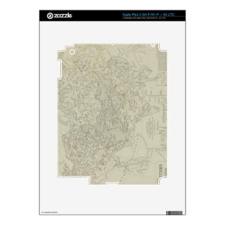 Antique Map of River Systems Decals For iPad 3