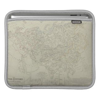 Antique Map of River Systems iPad Sleeves