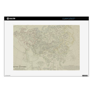 "Antique Map of River Systems Skins For 15"" Laptops"