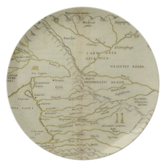 Antique Map of Russia Melamine Plate