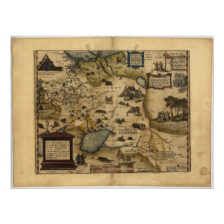Antique Map of Russia ORTELIUS ATLAS 1570 A.D. Poster