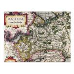 Antique Map of Russia Postcards - Peter Kaerius