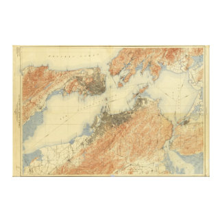 Antique Map of San Francisco Bay Area 1915, Canvas Canvas Print