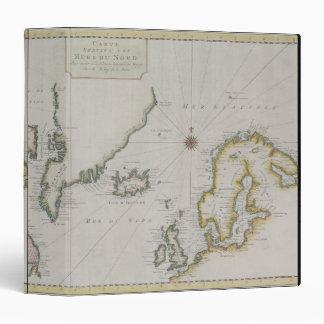 Antique Map of Scandinavia 2 Binder
