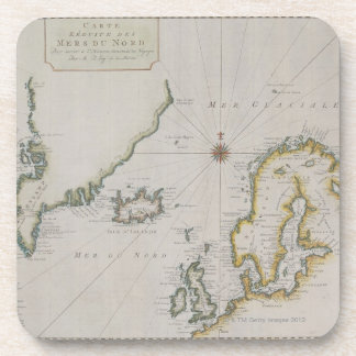 Antique Map of Scandinavia 2 Drink Coaster